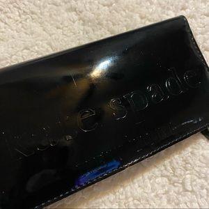 Kate Spade Black Patent Leather Bi-fold Wallet